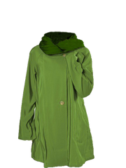 Mycra Pac Accordion Hood Reversible Rain Jacket - Lime/Aloe