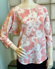 Nally & Millie Tie-Dye Dolman Sleeve Top - Pink/Multi
