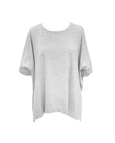 Nally & Millie Short Sleeve Oversized Boxy Tee - Grey