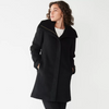 Image of Nine West Wool Blend Boucle Coat - Black - Sugg. $180.00