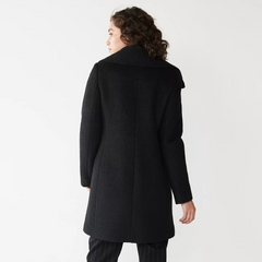 Nine West Wool Blend Boucle Coat - Black - Sugg. $180.00