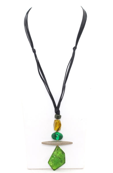 Alisha.D Pendant Drop Necklace - Green