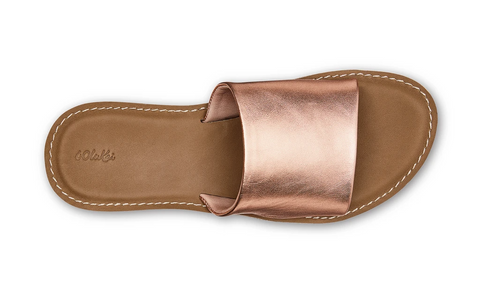 OluKai Nōhie 'Olu Leather Slide Sandal - Rose Gold