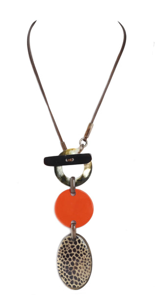 Alisha.D Multi-Pendant Necklace - Orange