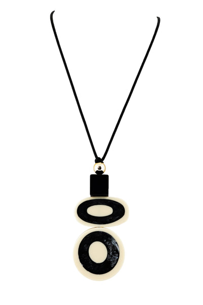 Alisha.D Pendant Necklace - Black/Ivory