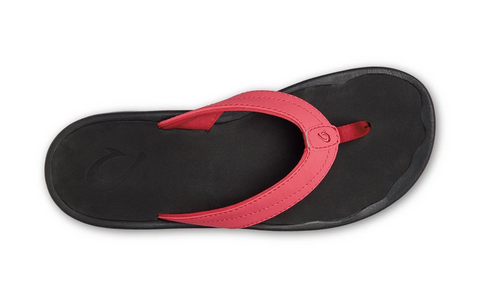 OluKai 'Ohana Toe Post Sandal - Passion Flower/Black