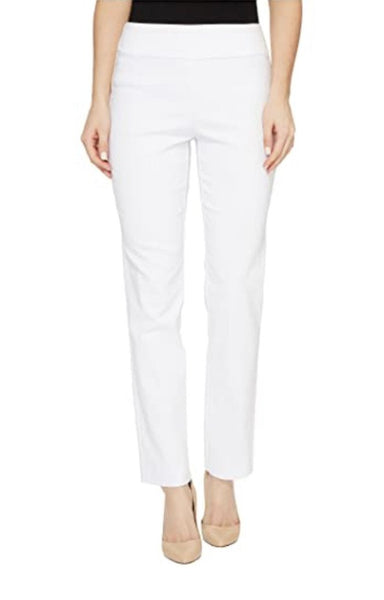 Krazy Larry Pull On Ankle Pant - White