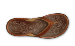 OluKai Paniolo Leather Toe Post Sandal - Brown