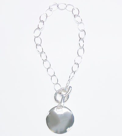 Simon Sebbag Designs - Chunky Sterling Silver Chain & Medallion Necklace