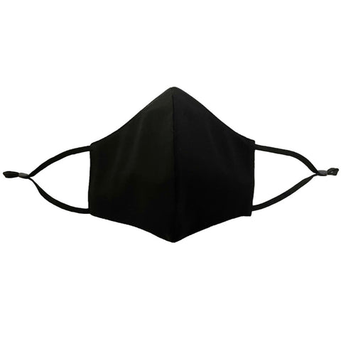 4-Layer Cotton Fashion Mask - Black