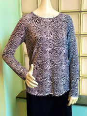 Project J Ombre Leopard Sweater - Pink/Blue