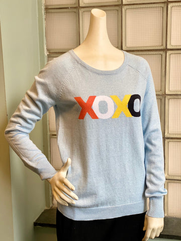 Project J XOXO Long Sleeve Knit Tee - Crystal Blue