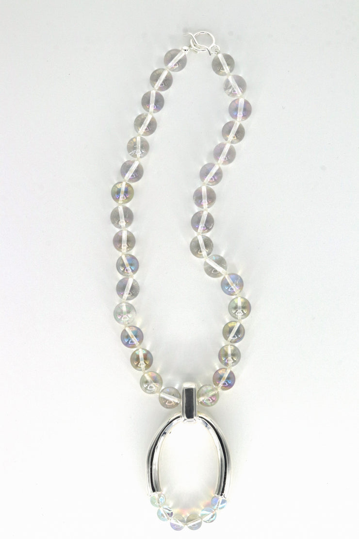 Simon Sebbag Designs - Rainbow Crystal Necklace with Sterling Silver Charm