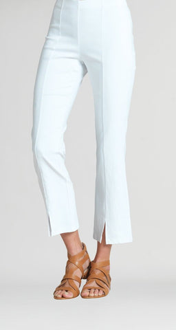 Clara Sunwoo Techno Stretch Center Seam Kick Flare Ankle Pant - White