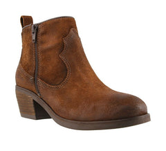Taos Partner Western Bootie - Chocolate