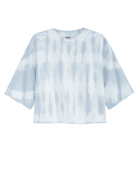 525 America Short Sleeve Tie Dye Top - Cloud Blue