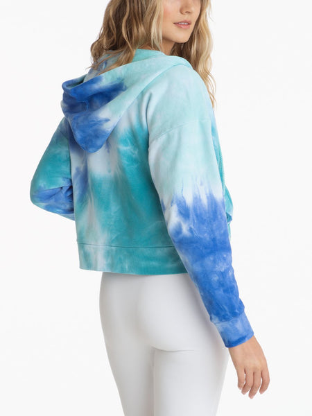 525 America Tie Dye French Terry Hoodie - Baja Blue