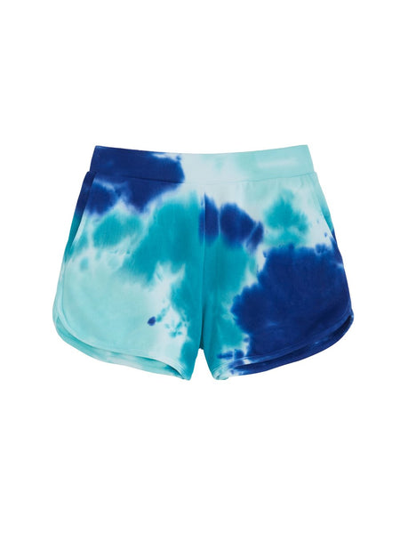 525 America Tie Dye French Terry Short - Baja Blue