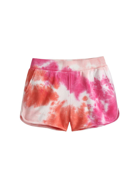 525 America Tie Dye French Terry Short - Electric Coral