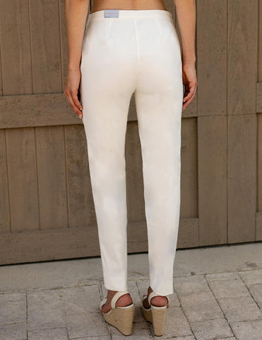 Sharon Young FitFabulous Classic Ankle Pant - Off White