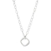 Image of Simon Sebbag Sterling Silver Open Square Pendant Long Chain Necklace