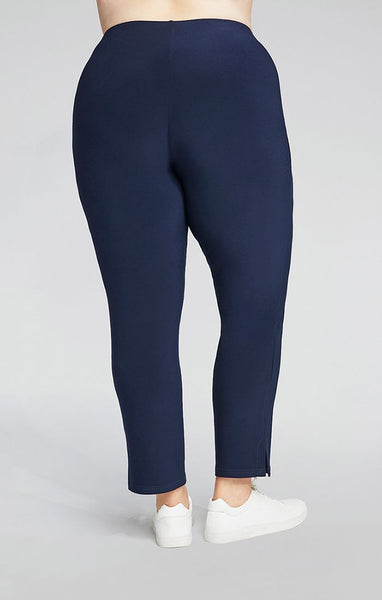 Sympli Narrow Pant Midi Plus Size - Navy