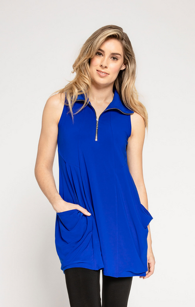 Sympli Sleeveless Double Take Tunic - Lapis