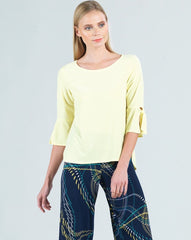 Clara Sunwoo Tie Bell Sleeve Top - Yellow