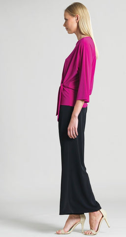 Clara Sunwoo Side Tie 3/4 Sleeve Top - Magenta