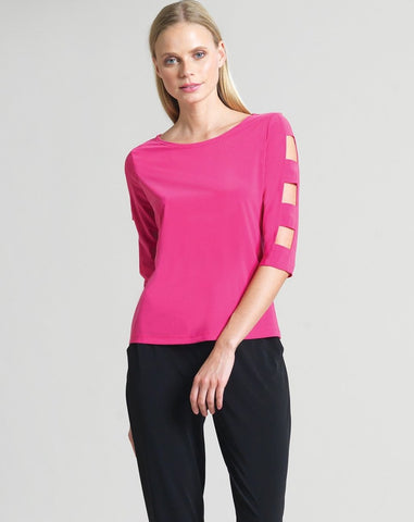 Clara Sunwoo Ladder Sleeve Top - Pink