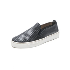 The FLEXX Sneak Name Slip On Sneaker - Navy