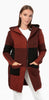 Image of TodaBela Color Block Hooded Cardigan - Cinnamon/Black