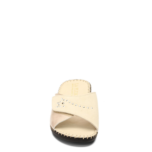 LaPlume Torino Studded Leather Sandal - Bone