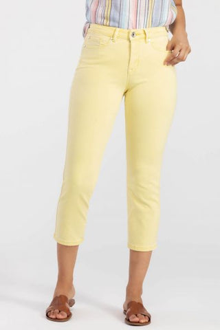 Tribal Super Stretch Crop Jean - Marigold