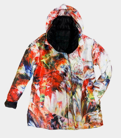 UbU Quilted Reversible Abstract Print Jacket - Multicolor - Sugg. $270.00