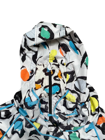 UbU Self Packing Raincoat with Built In Mask - Seeing Spots Print - Sugg. $225.00