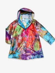 UbU Reversible Hooded Parisian Stroller Raincoat - Ibeza/Lovestruck Prints - Sugg. $290.00