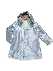 UbU Reversible Hooded Parisian Stroller Raincoat - Floral Madness/Mist - Sugg. $290.00