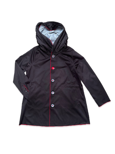 UbU Reversible Hooded Parisian Stroller Raincoat - Mist/Black - Sugg. $225.00 *Take an Extra 25% Off*