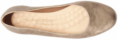 Walking Cradles Bronwyn Ballet Flat - Antique Gold Metallic