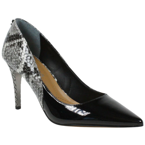 J. Renee Zayd Mixed Media Pump - Black/Snake