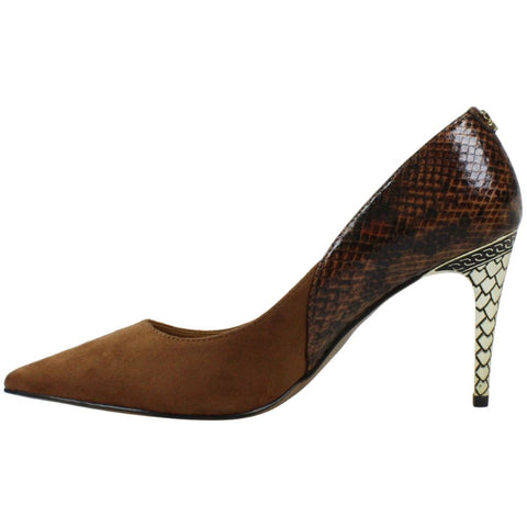 J. Renee Zayd Mixed Media Pump - Brown/Snake