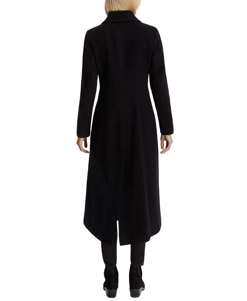 Anne Klein Cashmere Blend Single Breasted Maxi Coat - Black - Sugg. $350.00