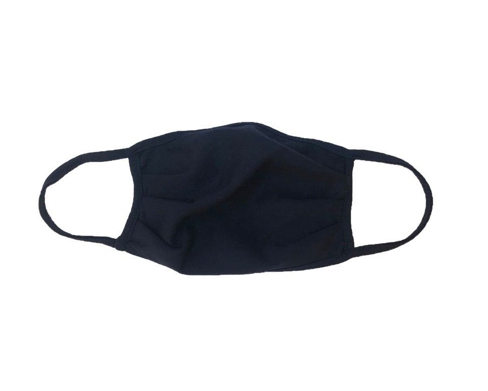 Cloth Fashion Mask Solid Color - Navy