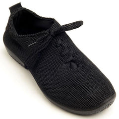 Arcopedico Lace Up Knit Shoe - Black