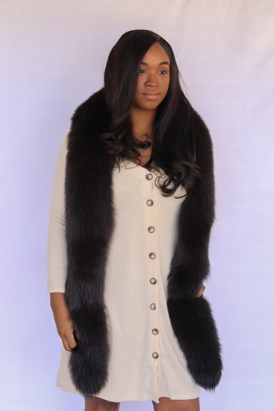 Fox Fur Boa - Brown