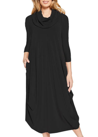 Sympli Dream Dress 3/4 Sleeve - Black