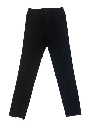 Insight New York Straight Leg Knit Ankle Pant - Black