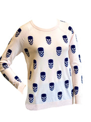 Project J Skull Sweater - Pink/Navy