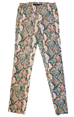 Insight New York Python Print Soft Knit Pant - Pink/Turquoise Print
